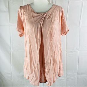 Jeanswest Pink Short Sleeve Blouse Top Size 10